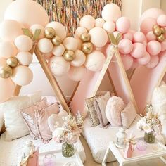 """The Original Party Bag Company on Instagram: """"If only we could stay here all day ! ⭐️🎈Slumber Sleepover Party 💗🎂 Balloon Garlands & Besties is all that's required x"""""""
