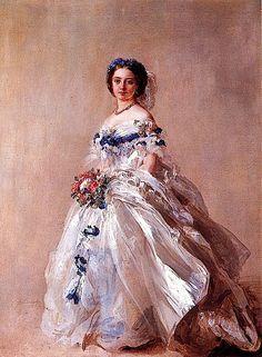 1856 Princess Royal Victoria dressed for her debut by Franz Xaver Winterhalter (Hessische Hausstiffung, Schloss Fasanerie Fulda Germany)