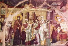 Πανσέληνος Μανουήλ-The Entry of the Most Holy Theotokos into the Temple, 1300