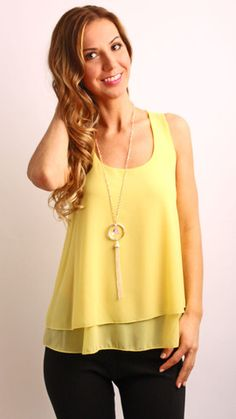 Sunshine Top With Necklace