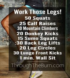 Intense leg workout that can be done at home or at the gym to help tone your calves and strengthen your thighs.