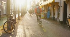 Delft, Passing By, Alley, Afternoon, Atmospheric, Canal, Cycling (Procedure), Sunray, Bicycle, Historic City Center, Autumn, Pedestrian, Driving (Procedure), Street, Sunshine, People, Day,