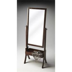 Check out the Butler 2254282 Loft Cheval Mirror in Espresso priced at $409.00 at Homeclick.com.2254282 Specifications  Collection: Butler Loft Country of Origin: China Depth: 14-1/2 Finish: Espresso Finish Distressing: Light Frame Material: Wood Frame Shape: Rectangular Framed or Frameless: Framed Height: 60 Shape: Rectangular Style: Traditional Type: Floor Mirrors Weight: 28 Width: 22