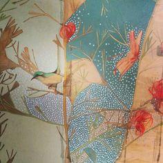 Art Painting, Botanical Art, Painting Illustration, Amazing Art, Art Projects, Painting, Bird Artwork, Art, Printmaking Art