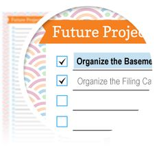 Future Projects Checklist - Download here: https://www.alejandra.tv/shop/printable-home-organizing-checklists/?utm_source=Pinterest&utm_medium=Pin&utm_content=Checklistk&utm_campaign=Pin    Use this to write down and keep track of all of your future projects ideas.