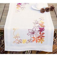 Vervaco® Autumn Leaves Table Runner Stamped Cross-Stitch Kit