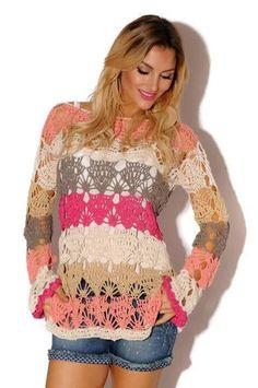 Suéter colorido