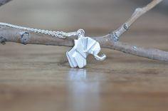 Origami Elephant Necklace ~ Best Seller!