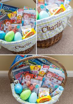 Non-Candy Ideas for what to put in a bigger boy's easter basket