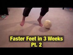 Soccer Tricks - Faster Feet In 3 Weeks - Part 1 of 3 - YouTube #soccerpractice