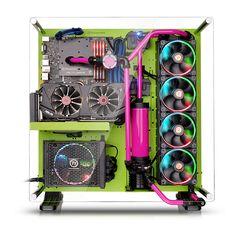 Thermaltake - U.S.A. - Core P5 Green Edition - CA-1E7-00M8WN-00 Thermaltake Core P5 Green Edition ATX Open Frame PC