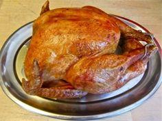 Turkey roasted with Rosemary, Sage, Lemon & Garlic; Italian sausage & chestnut stuffing; & an easy pan gravy.