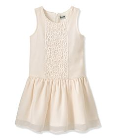 Loving this Cream Crochet Drop-Waist Dress - Infant, Toddler & Girls on #zulily! #zulilyfinds