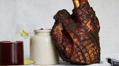 Scoring the skin isn't just for looks; it helps the fat render and makes the roast easy to slice. - set it and forget it roast pork shoulder Roasted Pork Shoulder Recipes, Pork Shoulder Roast, Roast Recipes, Dinner Recipes, Cooking Recipes, Nye Recipes, Lamb Recipes, Yummy Recipes, Pork