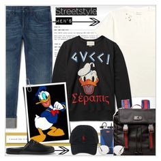 """""""Street Style """"Men's"""""""" by alves-nogueira ❤ liked on Polyvore featuring Gucci, Ettore Bugatti, Ray-Ban, Polo Ralph Lauren, men's fashion and menswear"""