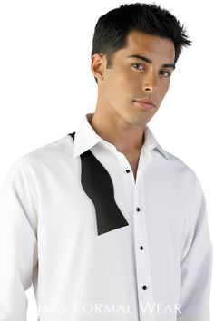 If you are looking for a comfortable formal shirt to wear with your tuxedo, choose a microfiber formal shirt, available in white, ivory or black – available for rental from Mister Penguin. Tuxedo Accessories, Tuxedo Rental, Formal Shirts, Groom And Groomsmen, Formal Wear, Chef Jackets, Tuxedos, How To Wear, Bow Ties