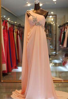 Dresswe.comサプライ品エレガントなビーズワンショルダーAライン床の長さのイブニングドレス イブニングドレス2014