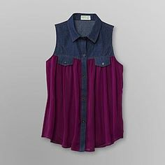 Dream Out Loud by Selena Gomez- -Junior's Chambray Shirt