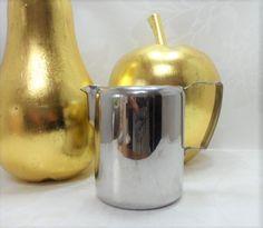 Olde Hall Stainless Steel Half Pint Milk Jug Vintage Mid-Century Tablewares