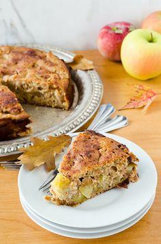 Buckwheat Apple Cake (Gluten Free) from cookingalamel Buckwheat Bread, Buckwheat Recipes, Gluten Free Cakes, Gluten Free Desserts, Dessert Recipes, Gluten Free Cooking, Cooking Recipes, Clean Eating Snacks, Healthy Snacks