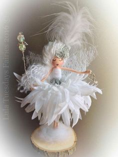 A beautiful handmade fairy doll I made...she is just a sweet little angel check out my Facebook page for more delights
