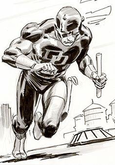 Sketch of Daredevil By Lee Weeks