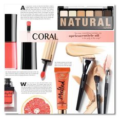 """""""Spring beauty: Coral"""" by dolly-valkyrie ❤ liked on Polyvore featuring uroda, NYX, Hourglass Cosmetics, Essie, Yves Saint Laurent i coolcorals"""