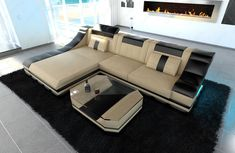 Luxury Sectional Sofa New York L Shape LED. #SofaDreamsUS