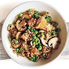 Chicken and Rice with Mushrooms Recipe | MyRecipes.com