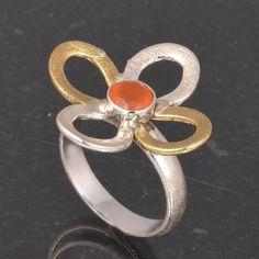 CARNELIAN 925 SOLID STERLING SILVER DESIGNER RING 5.90g DJR6013 #Handmade #Ring