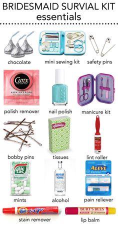 bridesmaid survival kit
