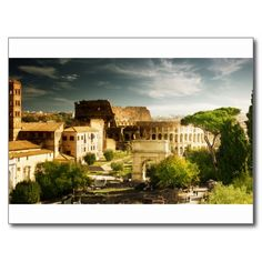 Eternal City Postcard With View Of The Colosseum Rome In A Day Italia