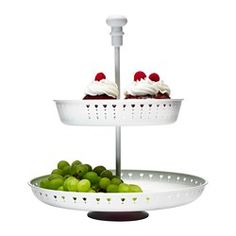 IKEA - GARNERA, Serving stand, two tiers, The serving stand is a festive way to serve pastries, cheese or fruit.