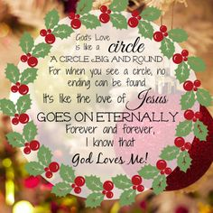 Song to Accompany Christmas Wreath Craft: God's Love is Like a Circle