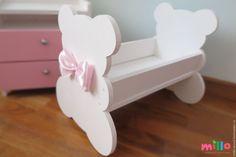 Купить Кроватка для куклы Акция! - белый, кроватка для куклы, кроватка кукольная, мебель для куклы