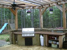 Rustic Outdoor Kitchen Simple Kitchens Build