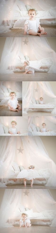 Beautiful one year old little girl. www.munchkinsandmohawks.com. 2012. Photo Session Ideas | Props | Prop | Child Photography | Inspiration | Pose Idea | Poses | Tent | Stars | Dreamy | 1st Birthday