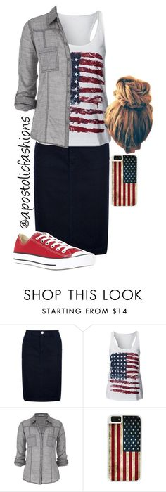 """""""Apostolic Fashions #659"""" by apostolicfashions ❤️ liked on Polyvore featuring Burberry, maurices, Converse and CellPowerCases"""