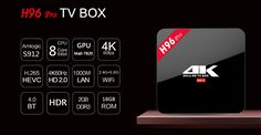 Amlogic and high end smart tv box with octa core and HDR. Smartwatch, Apple Technology, Dvb T2, 2gb Ram, Smart Tv, Plugs, China, Black, Android