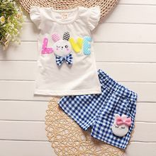 2018 toddler children summer baby girls clothing sets cartoon casual suit plaid clothes set white t shirt+short pants sleeveless Baby Boy Suit, Baby Girl Pants, Cute Baby Girl, Baby Girls, Toddler Girls, Plaid Outfits, Boy Outfits, Baby Boy Fashion, Kids Fashion