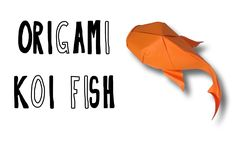 Origami Koi Fish designed and folded by me Paper: Kami paper Sheet size: 21cm x 21cm Crease patter here: https://www.flickr.com/photos/125441466@N02/14652347...