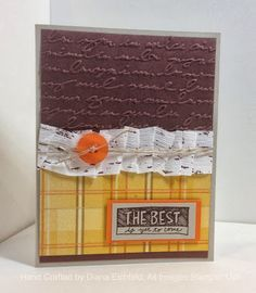 Stampin' Fun with Diana, Spread the Joy, Big Shot, Card, Thankful Tablescape Kit, Stampin' Up, Diana Eichfeld