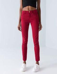 Bershka Switzerland -Bershka five-pocket trousers