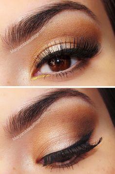 Brown smokey eyes