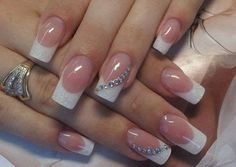 hochzeitsnägel french nails muster