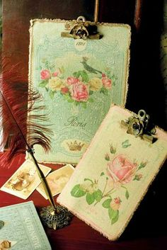 ROMANTIQUE CLIPBOARDS  possible  inspiration for Jenny Holidays new papers  The Sweet life