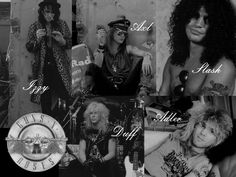 Guns N' Roses is an American hard rock band who formed in Los Angeles, California, in 1985. The classic lineup as signed to Geffen Records in 1986, consisted of vocalist Axl Rose, lead guitarist Slash, rhythm guitarist Izzy Stradlin, bassist Duff McKagan and drummer Steven Adler.