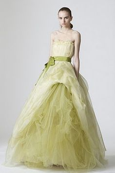 Vera Wang gown in mint green