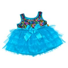 Lisa the Dragon Turquoise & Sequin Dress - Build-A-Bear Workshop US