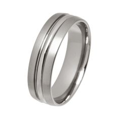 titanium ring with polished groove - Stonechat Jewellers Titanium Wedding Rings, Titanium Rings, Wedding Ring Guide, Stonechat, Engagement Rings, Jewels, Mens Fashion, Centre, Groom